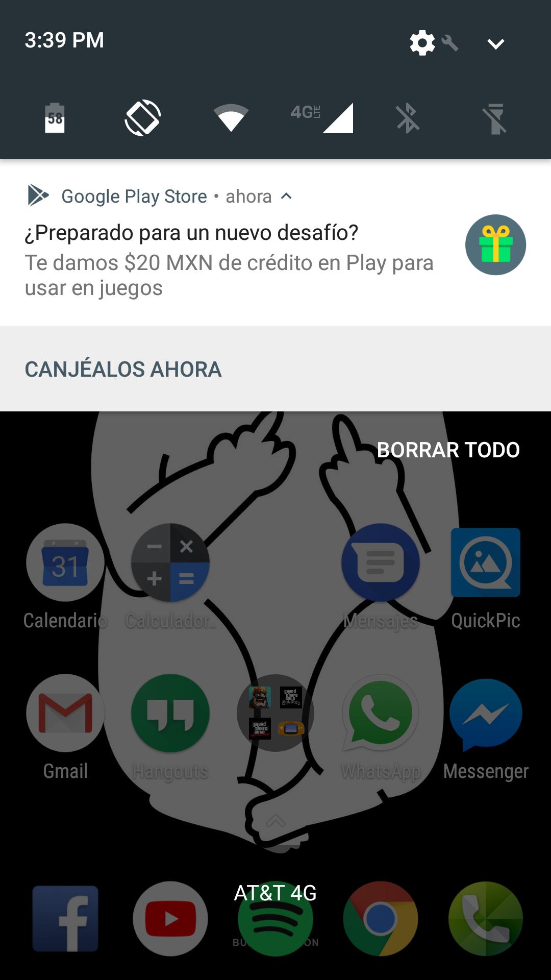 Google play: $20 pesos de regalo para apps