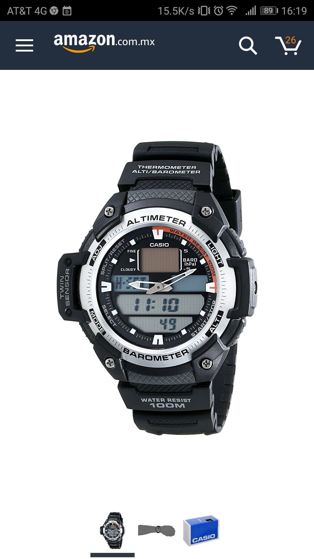 Reloj Casio con Barómetro y Altímetro a la mitad se su precio regular (Keepa).