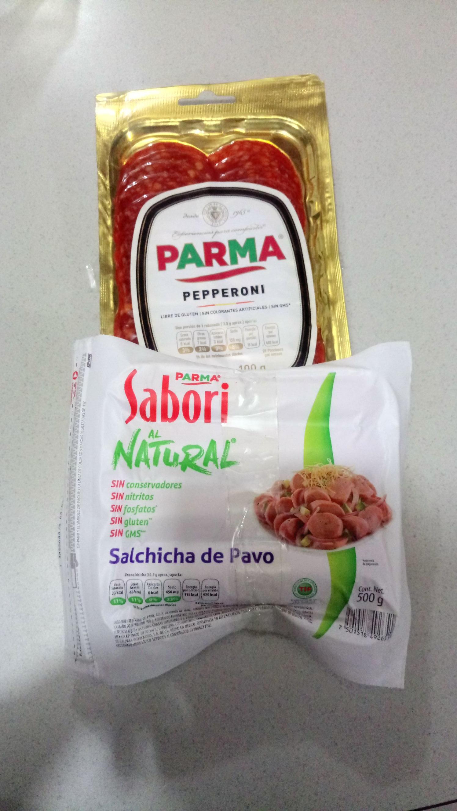 Walmart: Paquete Salchicha Sabori de Pavo + Pepperoni Parma