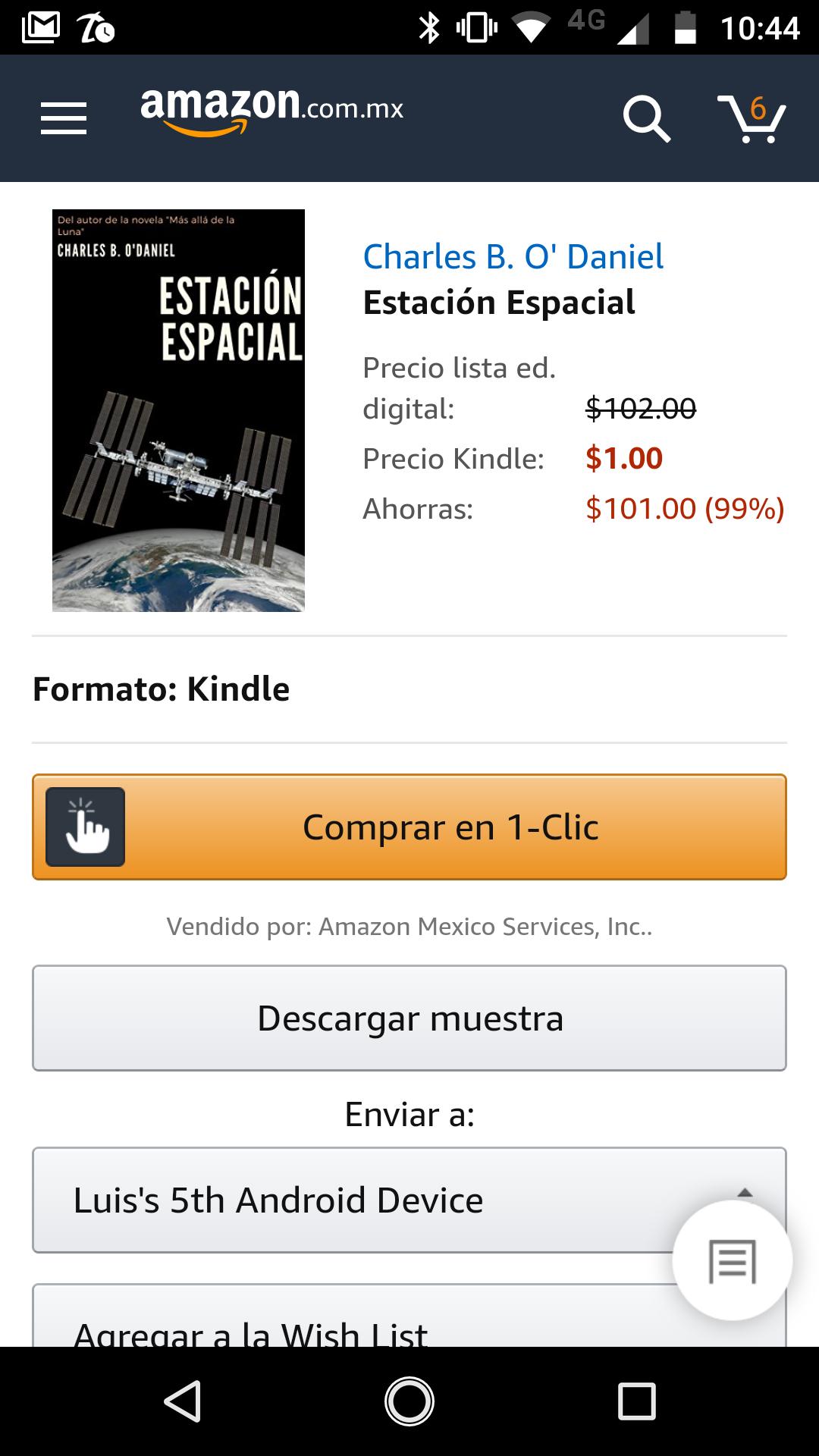 Amazon Kindle: Estación espacial.
