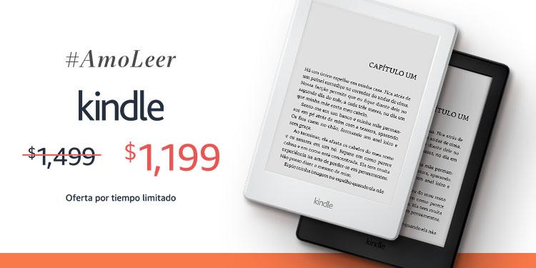 Amazon México: Kindle, pantalla E-ink, Wi-Fi, 8ª generación, color Negro y Blanco