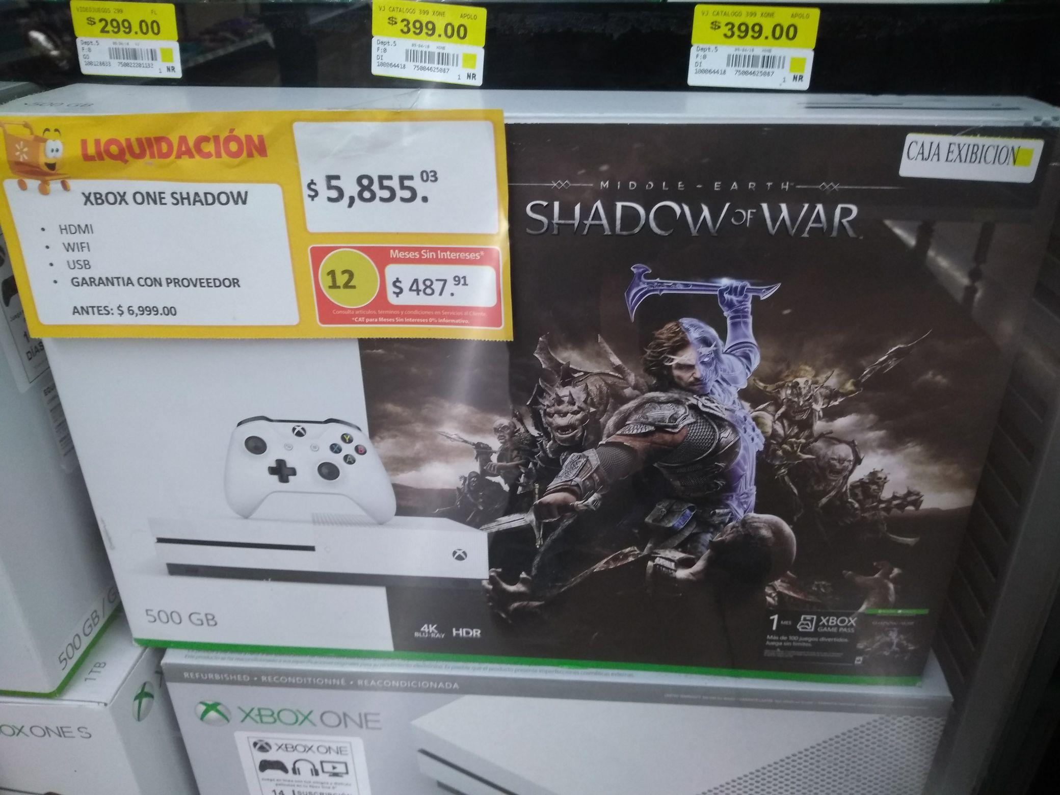 Walmart carrizal Villahermosa: xbox one en primera liquidacion