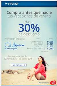 Preventa Hot Sale para miembros Club Interjet 30%