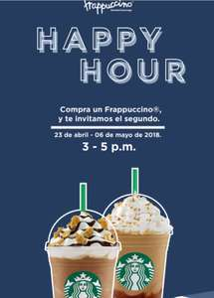Starbucks: Happy Hour - Frappuccino 2x1