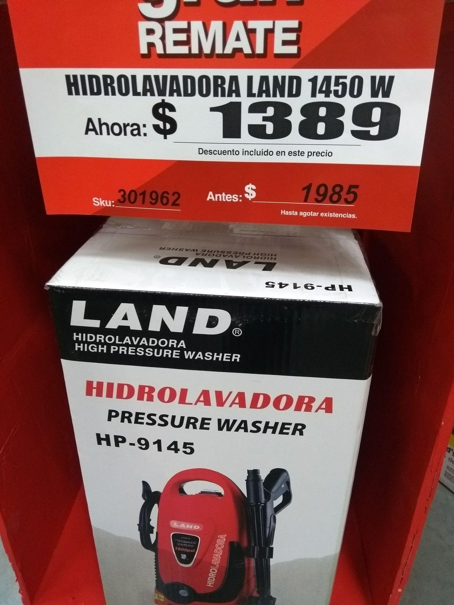 Home Depot: Hidrolavadora Land de 1600psi