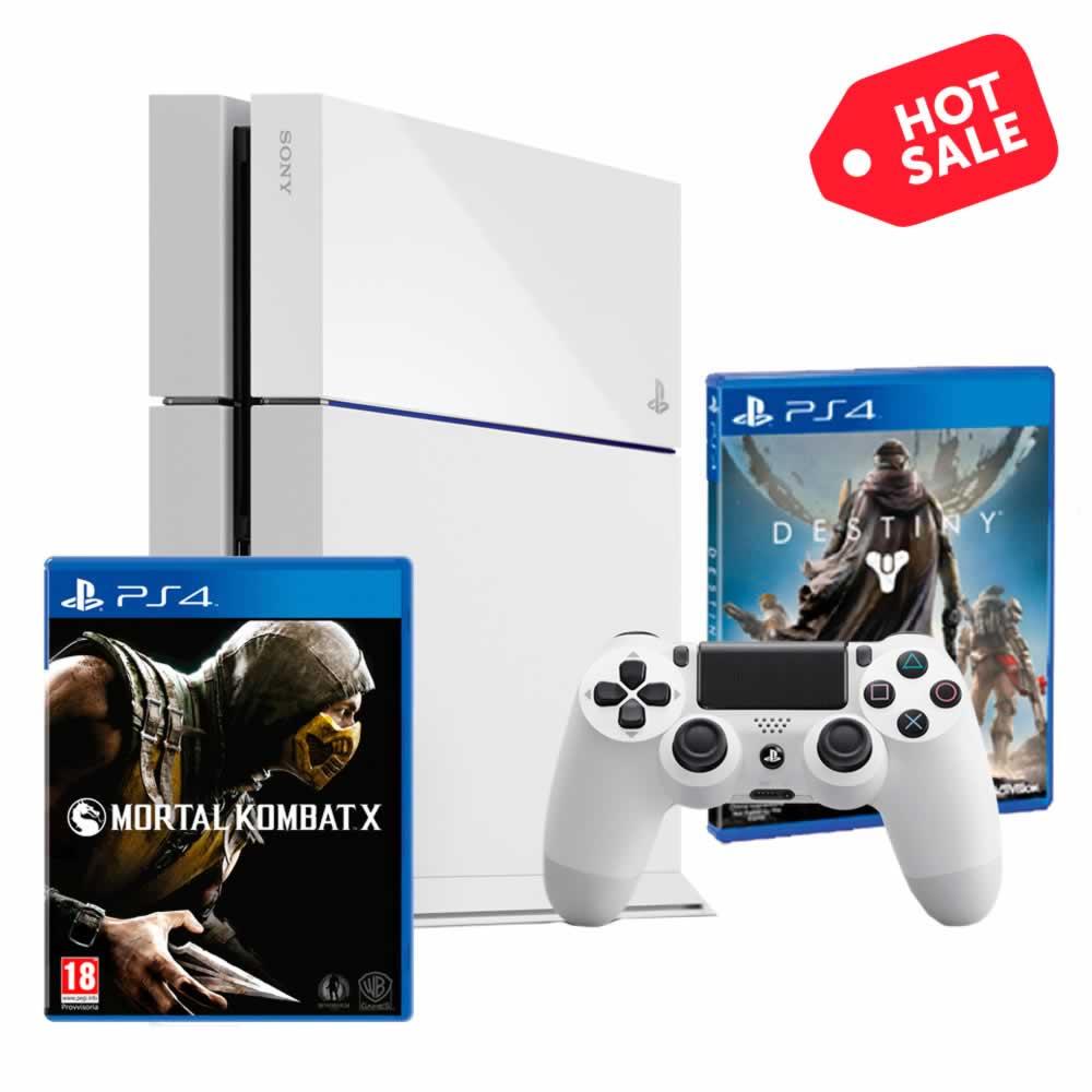 Hot Sale en Walmart: PS4 + Destiny + Mortal Kombat X $6,999 ($6,213 con Banamex)
