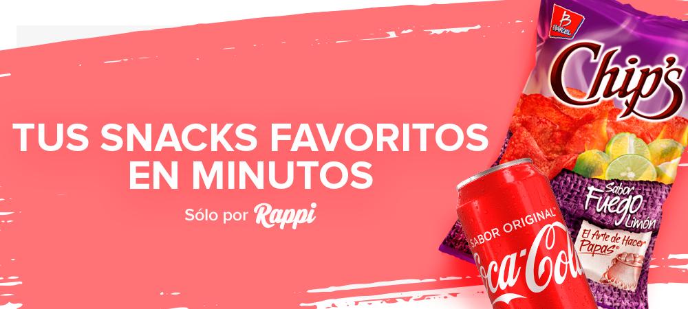 Rappi: Papas y refresco gratis (usuarios nuevos)