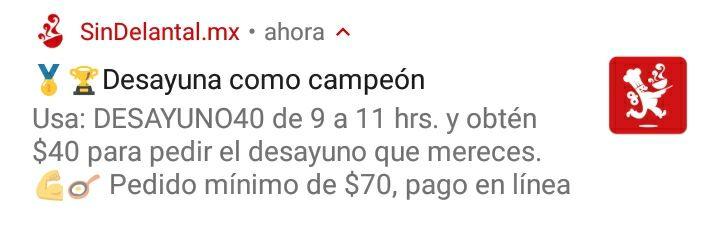 Sin Delantal: Cupón $40 Pedido Mínimo $70