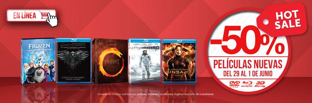 Promoción de Hot Sale en Blockbuster: 50% de descuento en películas nuevas