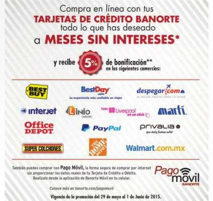 Promoción de Hot Sale con Banorte: 5% de bonificación en estado de cuenta