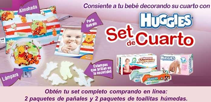 Huggies: Gratis set de recámara de Winnie Pooh comprando paquetes de pañales y toallitas