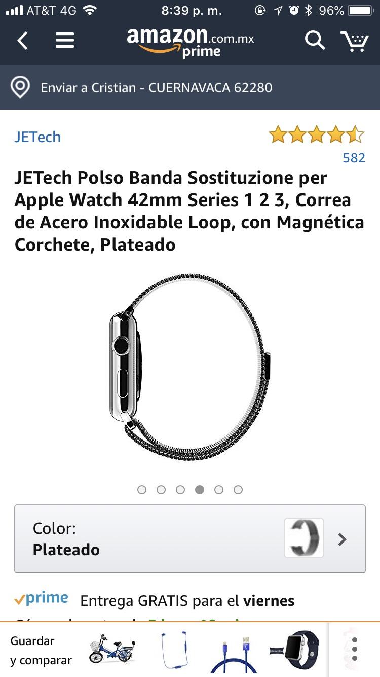 Amazon: Correa magnética para Apple Watch 42mm