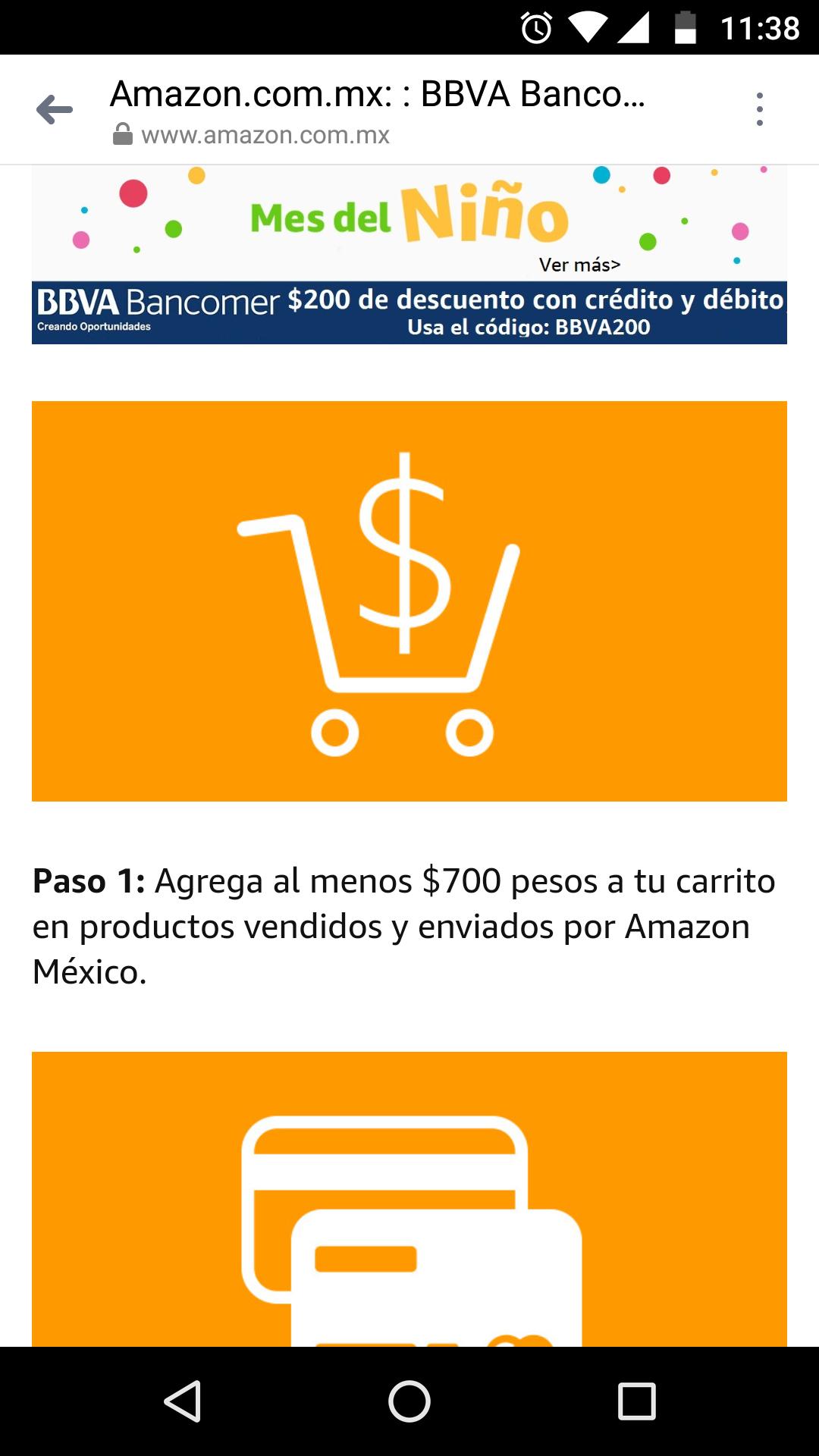Amazon: Cupón $200 de descuento en compra miníma de $700 en Juguetes y Videojuegos con Bancomer