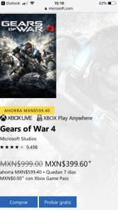 Microsoft Store: Gears of War 4 Xbox One
