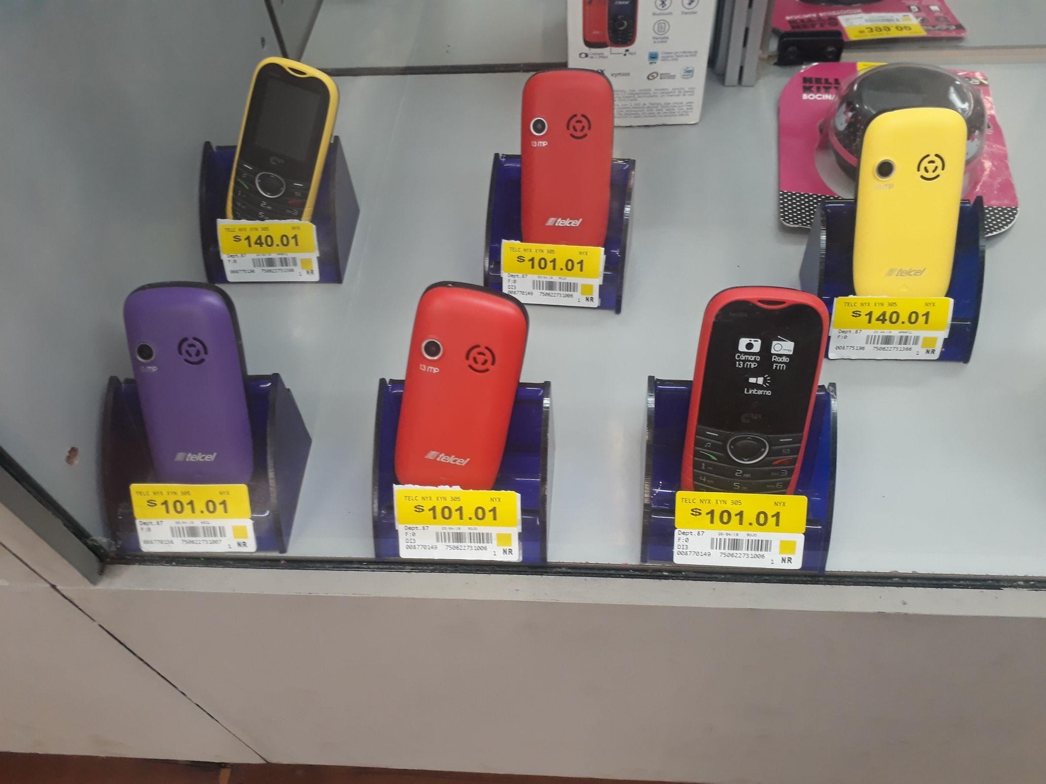 Walmar: celulares básicos en liquidación a $101.01 y $140.01
