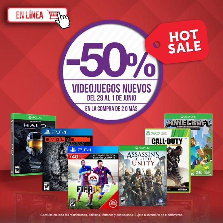 Promoción Hot Sale Gamerush: videojuegos con 50% de descuento
