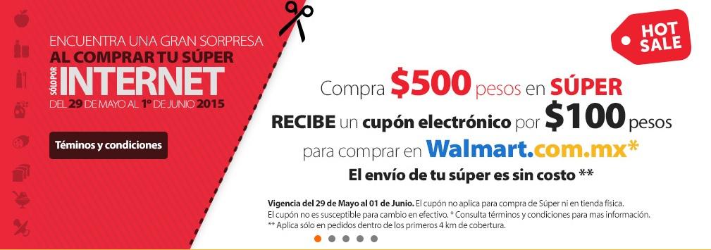 Hot Sale en Walmart: $100 de bonificación y envío gratis haciendo el súper online