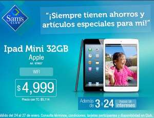 Sam's Club: iPad Mini 32GB $4,999 y hasta 24 meses sin intereses