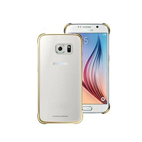 Amazon MX: Samsung clear cover dorado original para Galaxy S6 Edge
