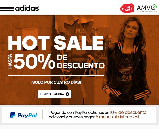 HOT SALE Adidas: Hasta 50% de descuento + 10% extra y 6 MSI con PayPal
