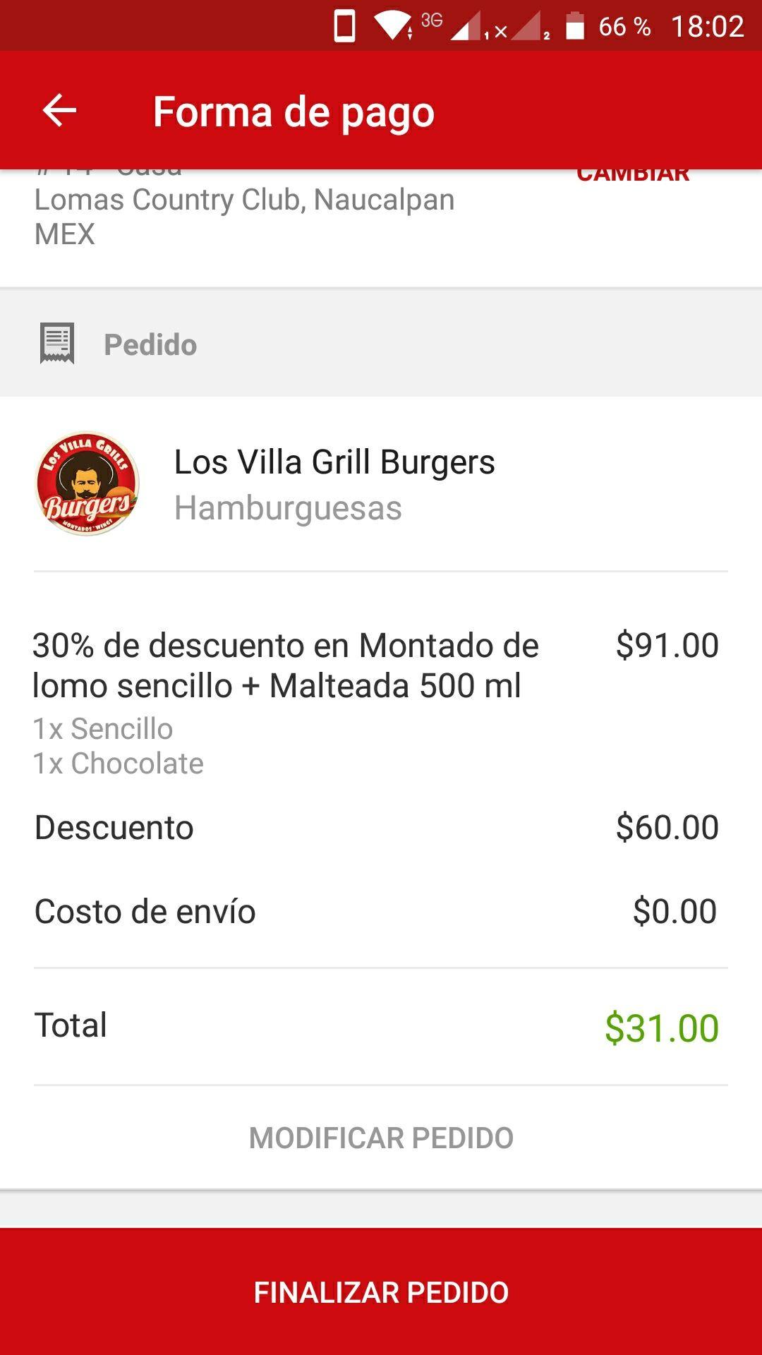 SinDelantal: Cupón $60 de descuento en pedido mínimo de $90