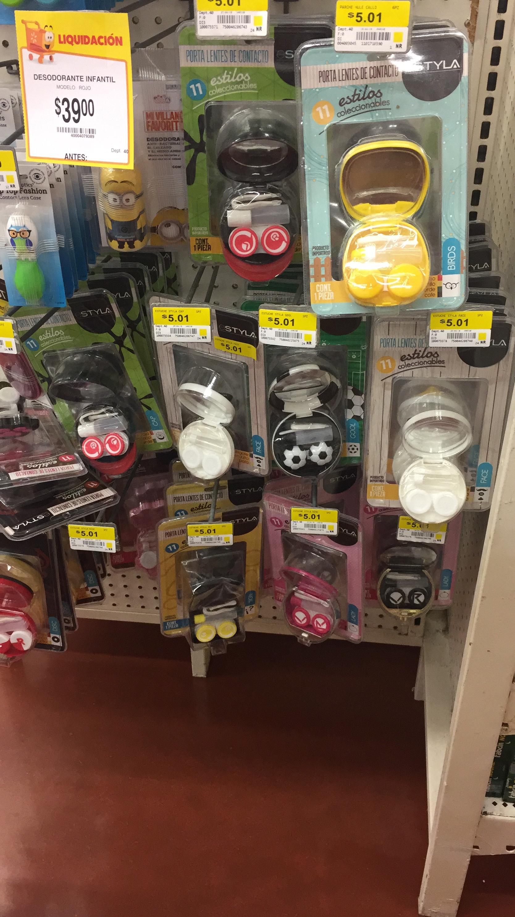 Walmart: estuche para lentes de contacto $5 pesitos
