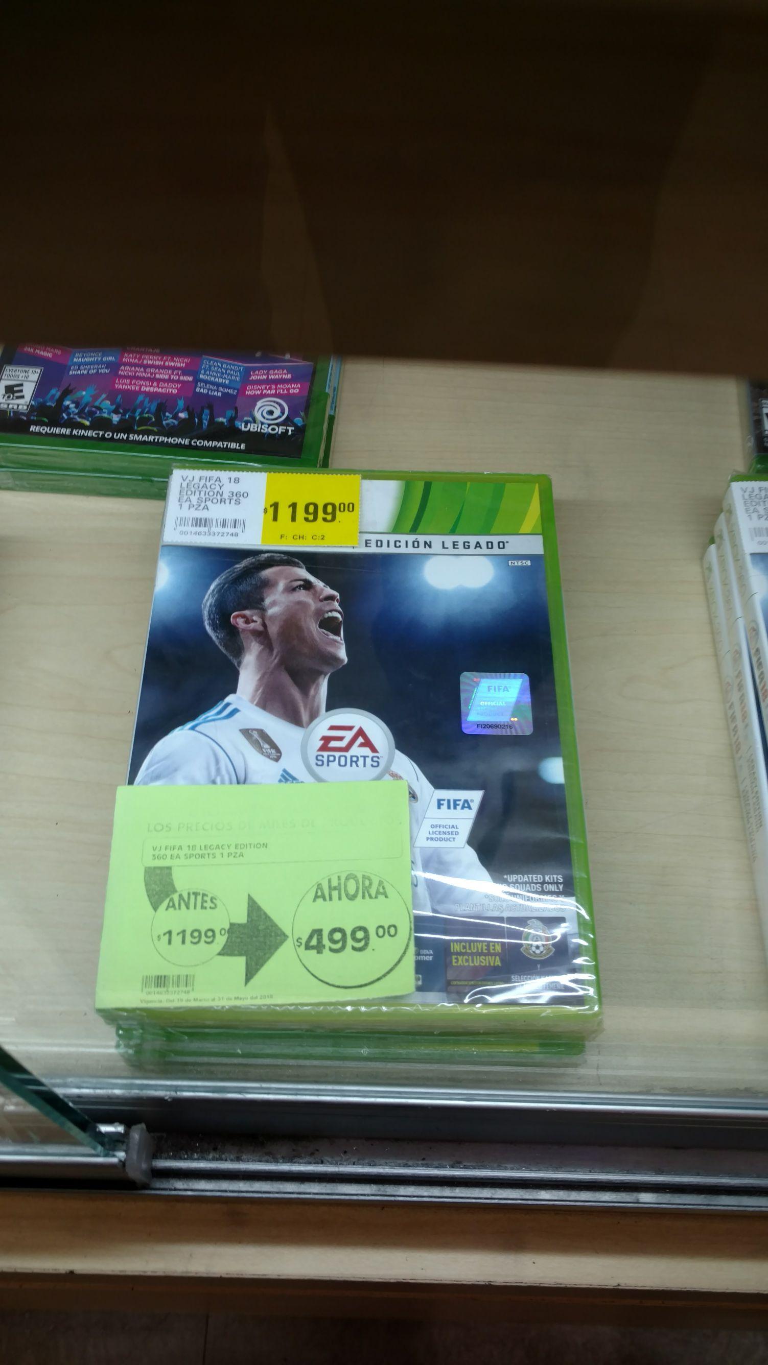 La Comer: FIFA 18 para Xbox 360 en $420