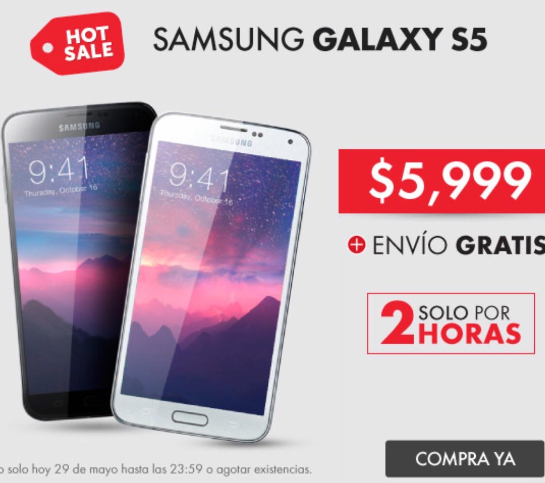 Promoción del Hot Sale 2015 en Linio: Samsung Galaxy S5 a $5,999 (con Paypal a $5,399)