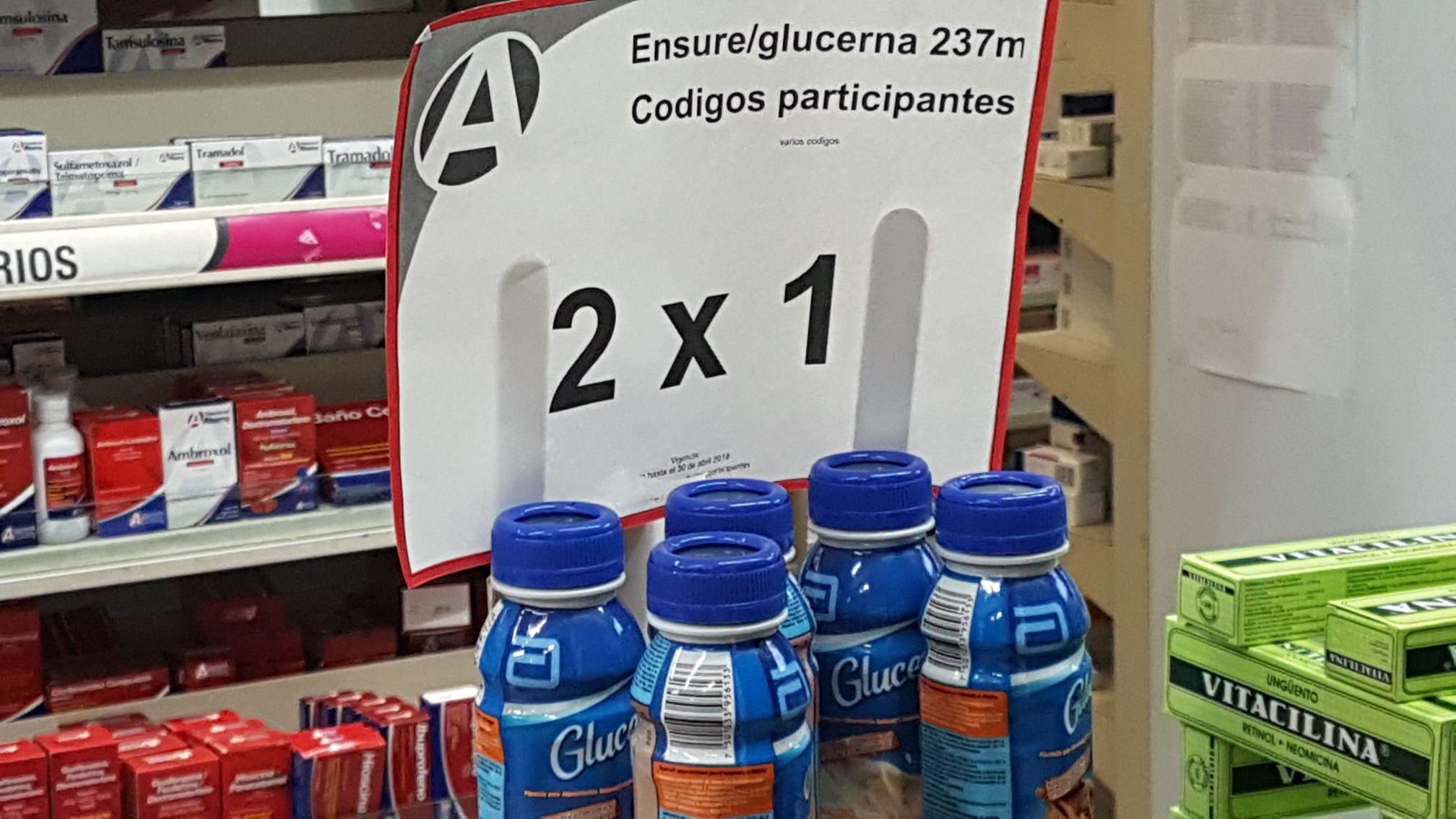 Farmacias del ahorro: Suplemento alimenticio glucerna al 2X1