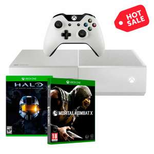 Hot Sale Walmart: Xbox One 500 GB The Master Chief edition blanca + Mortal Combat X banamex DISPONIBLE