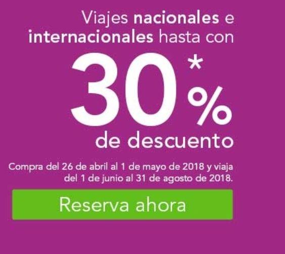 Volaris: Hasta 30% de descuento en viajes nacionales e internacionales.