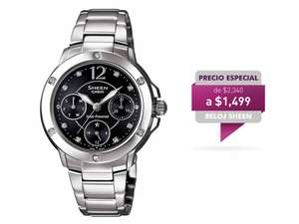 Liverpool Online: Reloj Sheen Plata $1019