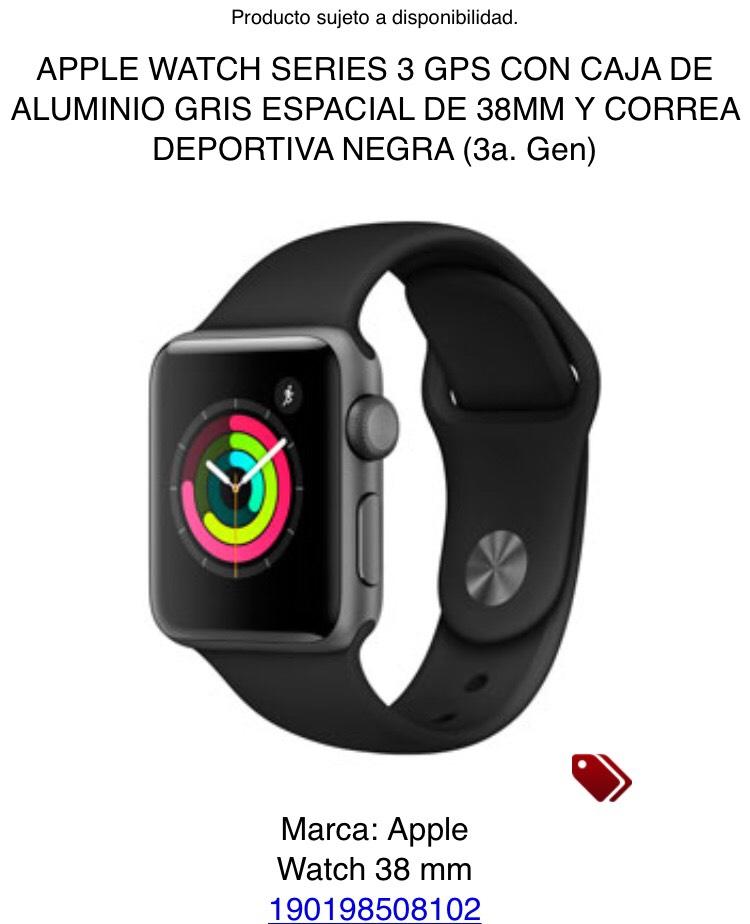 iShop (Mixup): APPLE WATCH SERIES 3 GPS DE 38MM (3 colores diferentes)