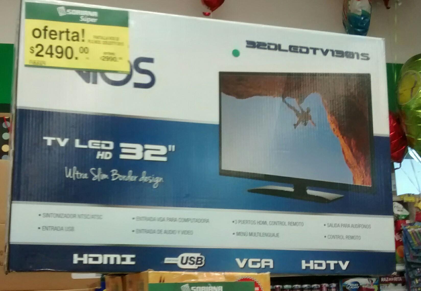 Soriana: Tv LED Vios 32 pulgadas a $2,490