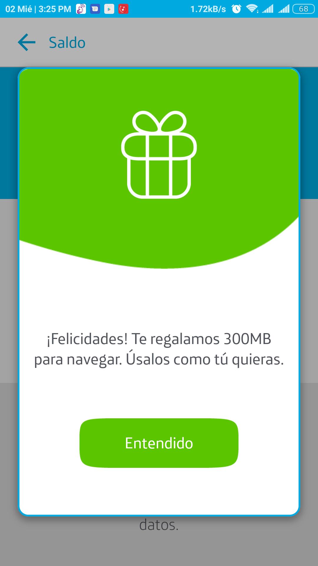 300 MB gratis al descargar la aplicación de Movistar