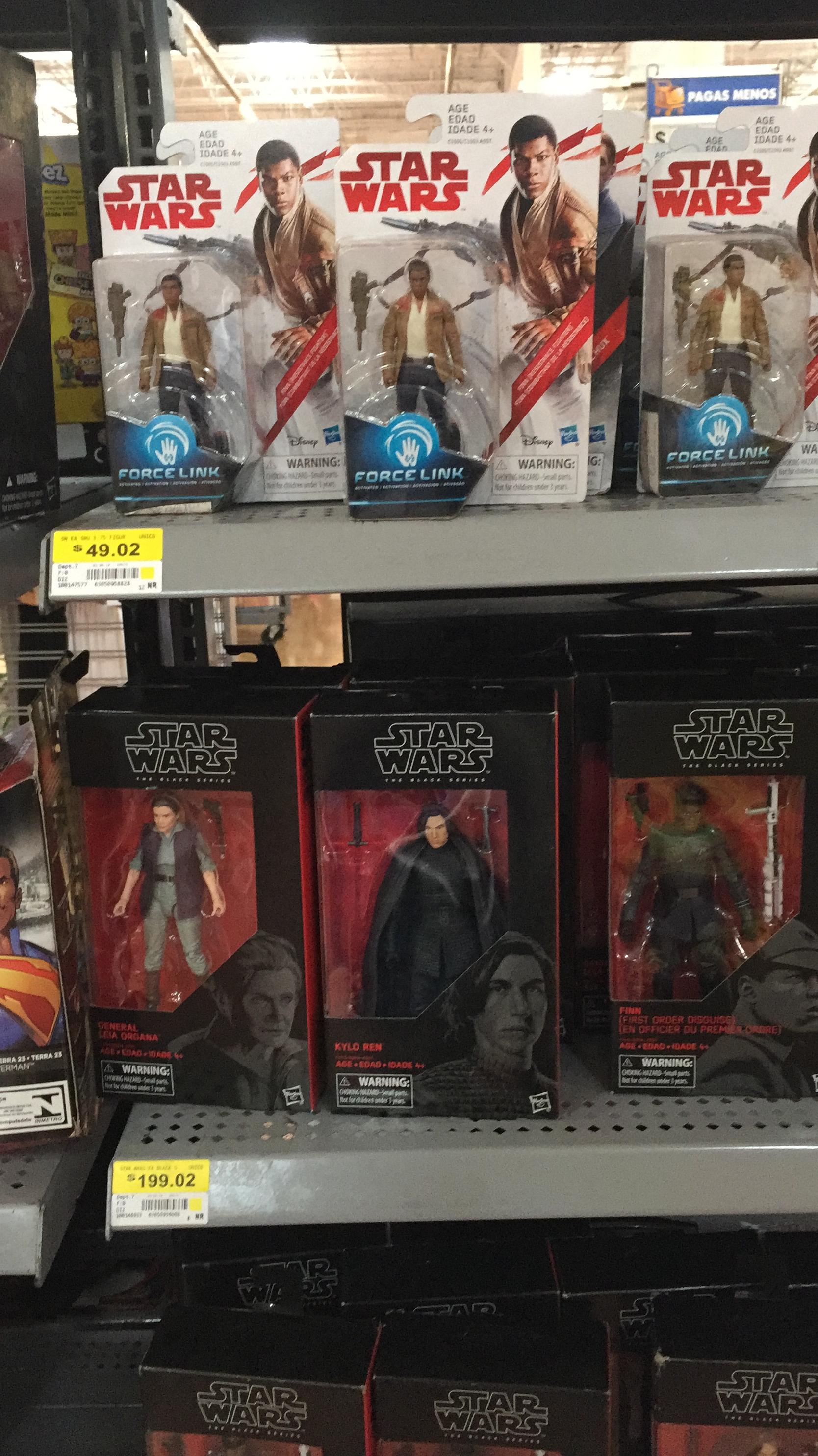 Walmart:  liquidación Figuras básicas Star Wars