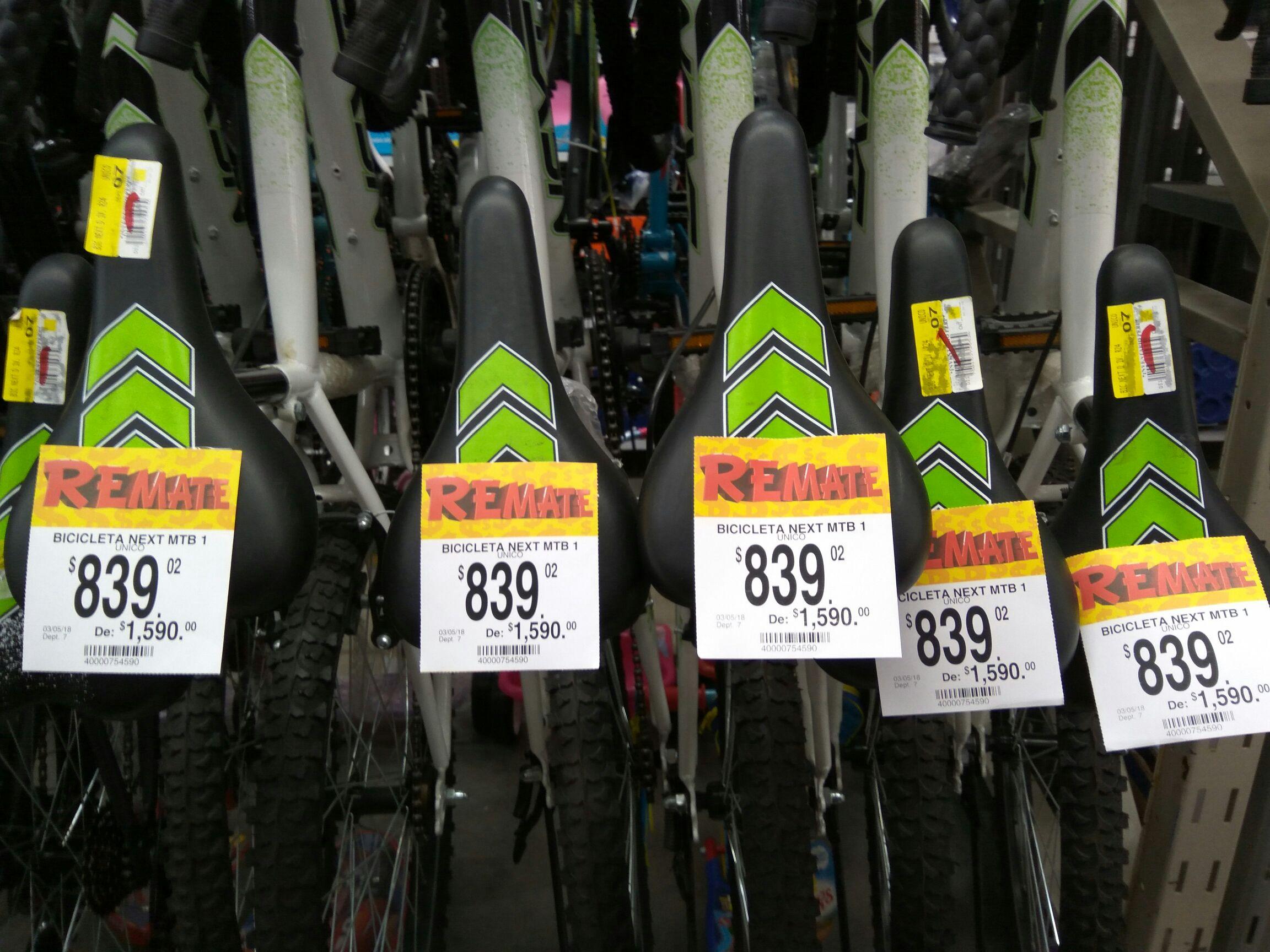 Bodega Aurrerá Pachuca: liquidación Bicicleta Next R24