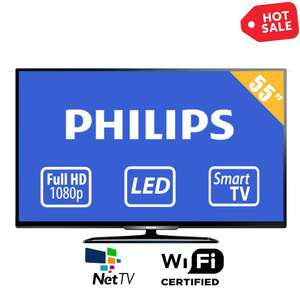"Hot Sale 2015 en Walmart: Smart Tv LED 55"" Phillips a $7,116 pagando con Banamex"