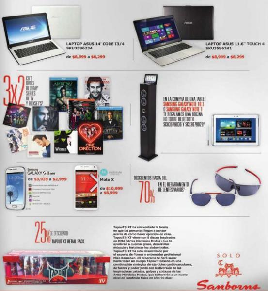 Sanborns: 3x2 en películas y música, 10% de descuento +10% en consolas y más