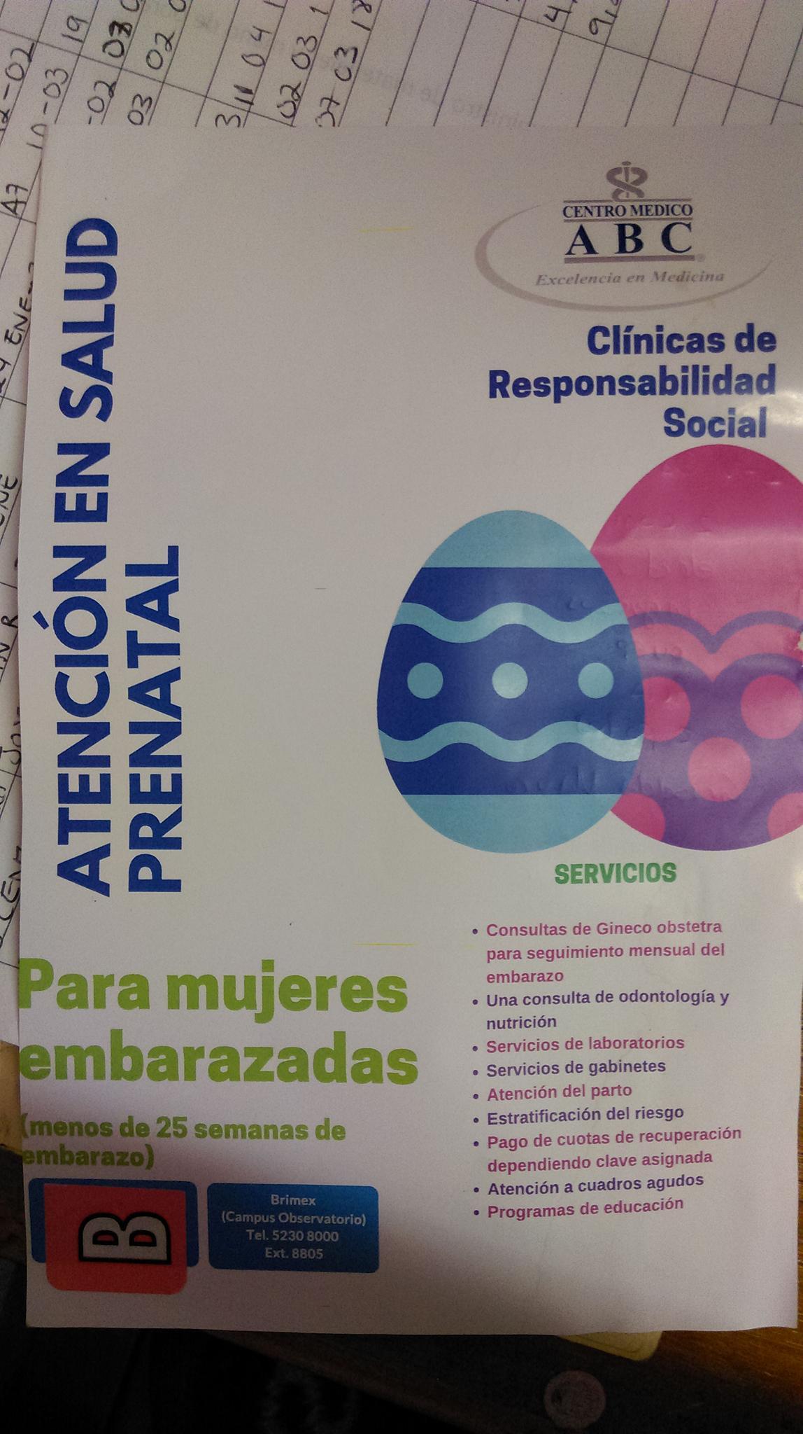 CDMX: HOSPITAL ABC ATENCIÓN PRENATAL Y PARTO