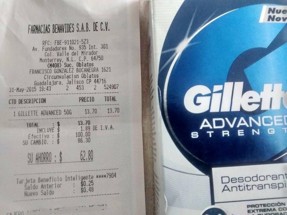 Farmacias Benavides: Desodorante Guillete Advance 50g (Tipo Crema) $14