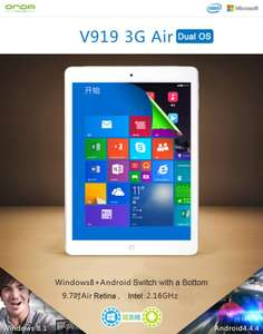 "Linio: tablet Onda V919 3G Air Dual Boot Tablet PC 9.7"" 2GB/32GB Quad Core $284"