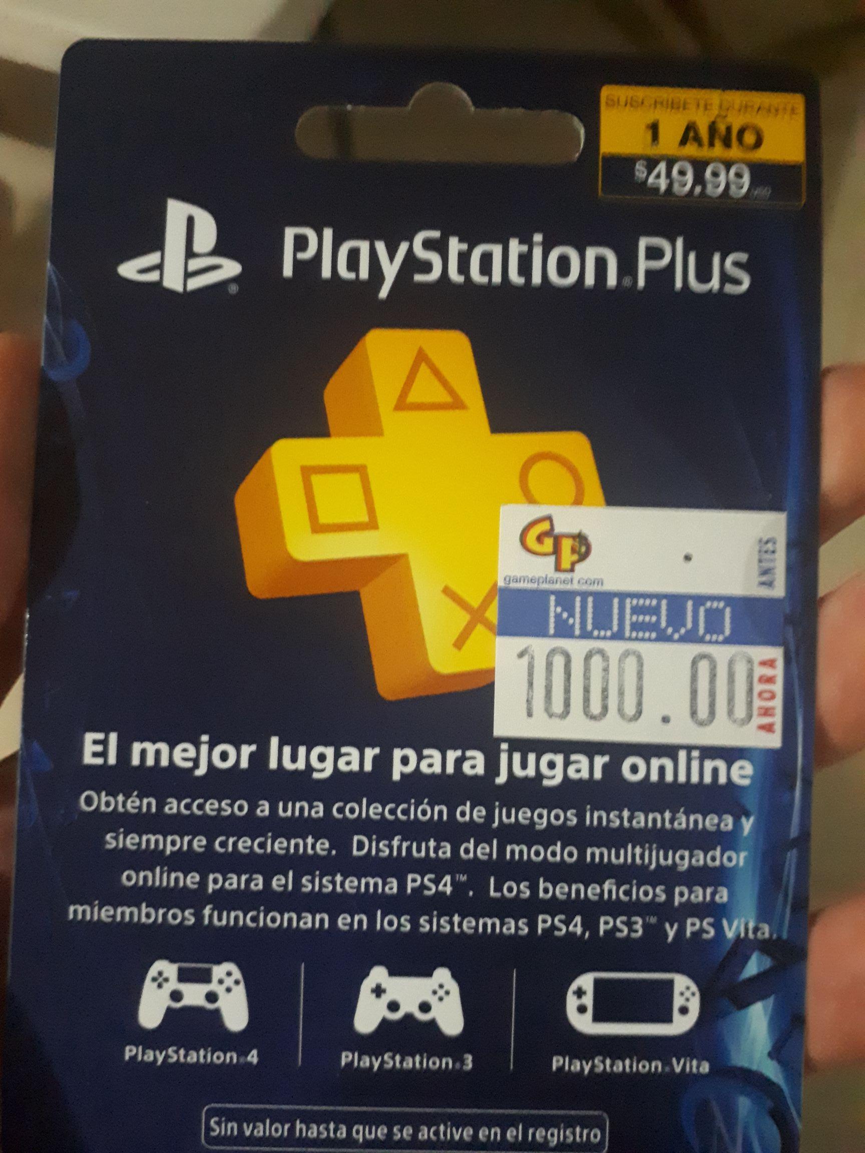 Game Planet: Membresía PlayStation Plus 1 año