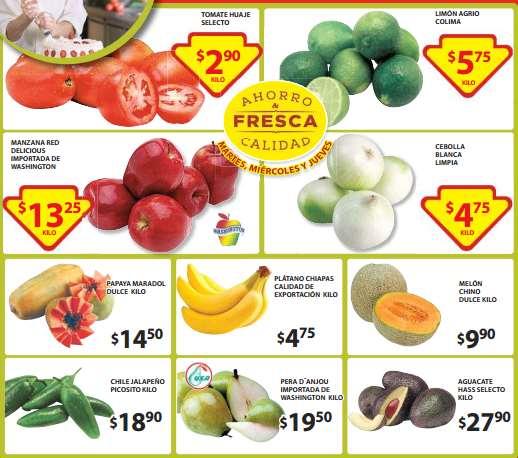 Ofertas de frutas y verduras en Soriana del 2 al 4 de junio