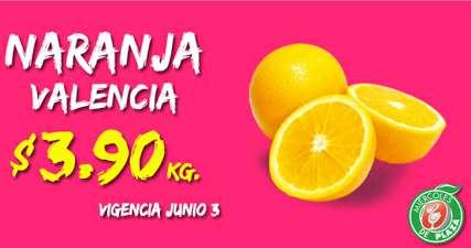 Miércoles de plaza en La comer junio 3: naranja $3.90 y más