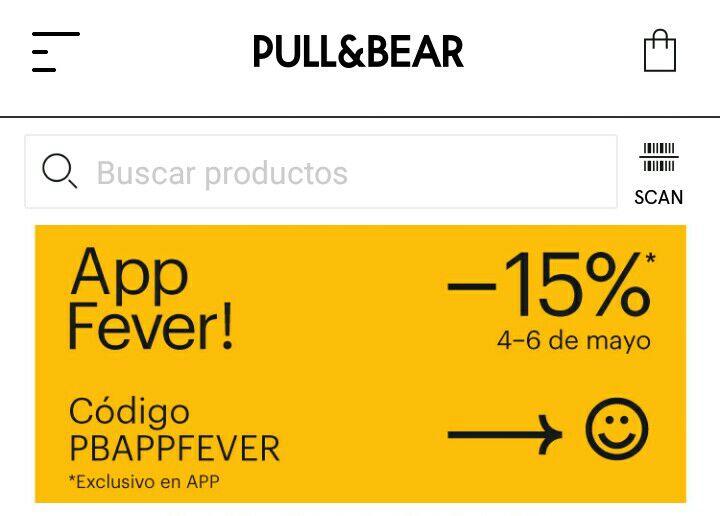 Descuento en Pull&Bear solo valido en la APP