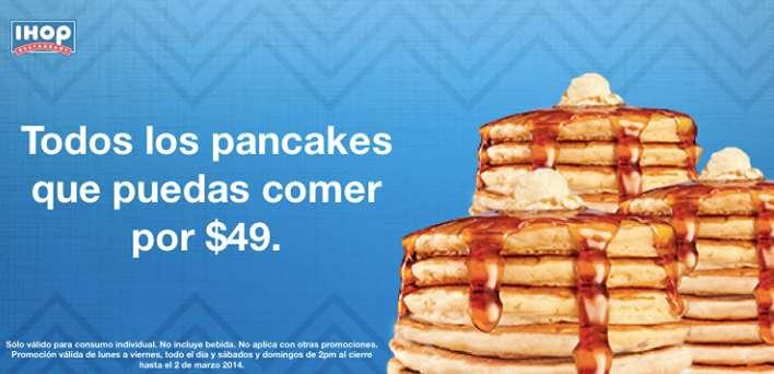 IHOP: pancakes ilimitados por $49