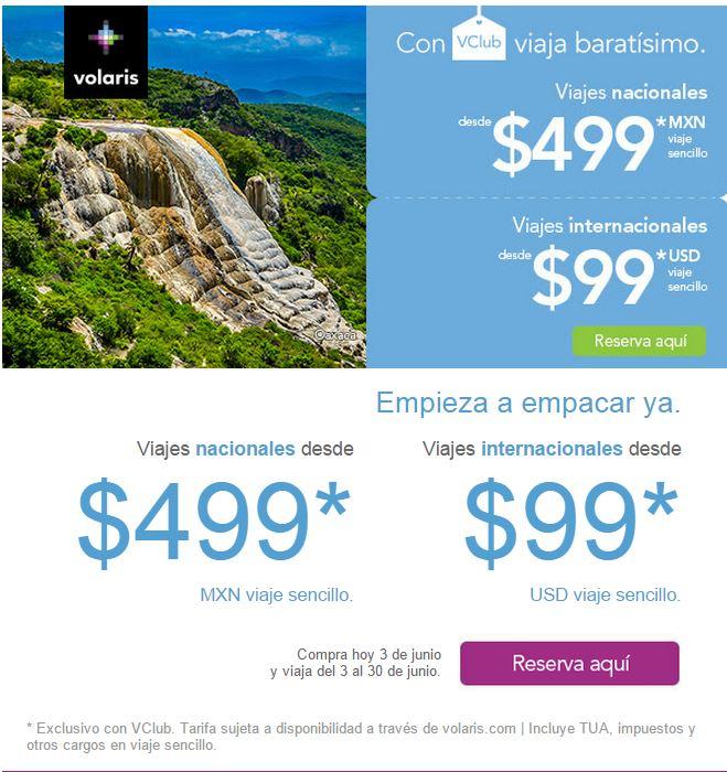Volaris: Viajes Nacionales desde $499 en junio con VCLUB