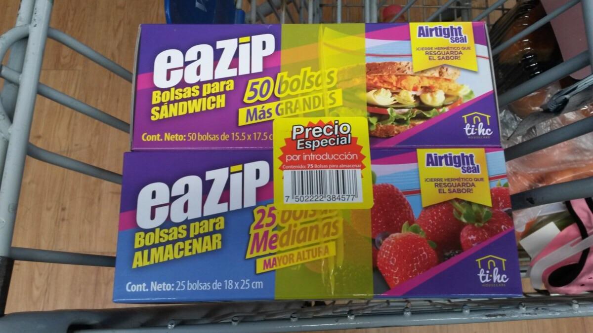 Walmart: 75 Bolsas para almacenar alimentos $30
