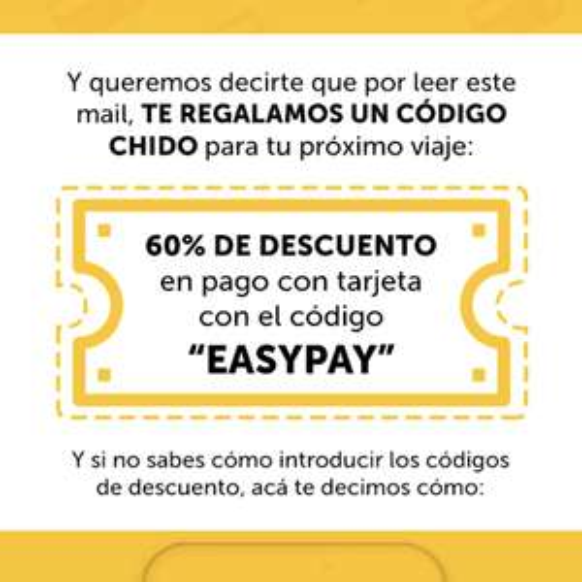 EASYTAXI: Descuento 60% pago con Tarjeta
